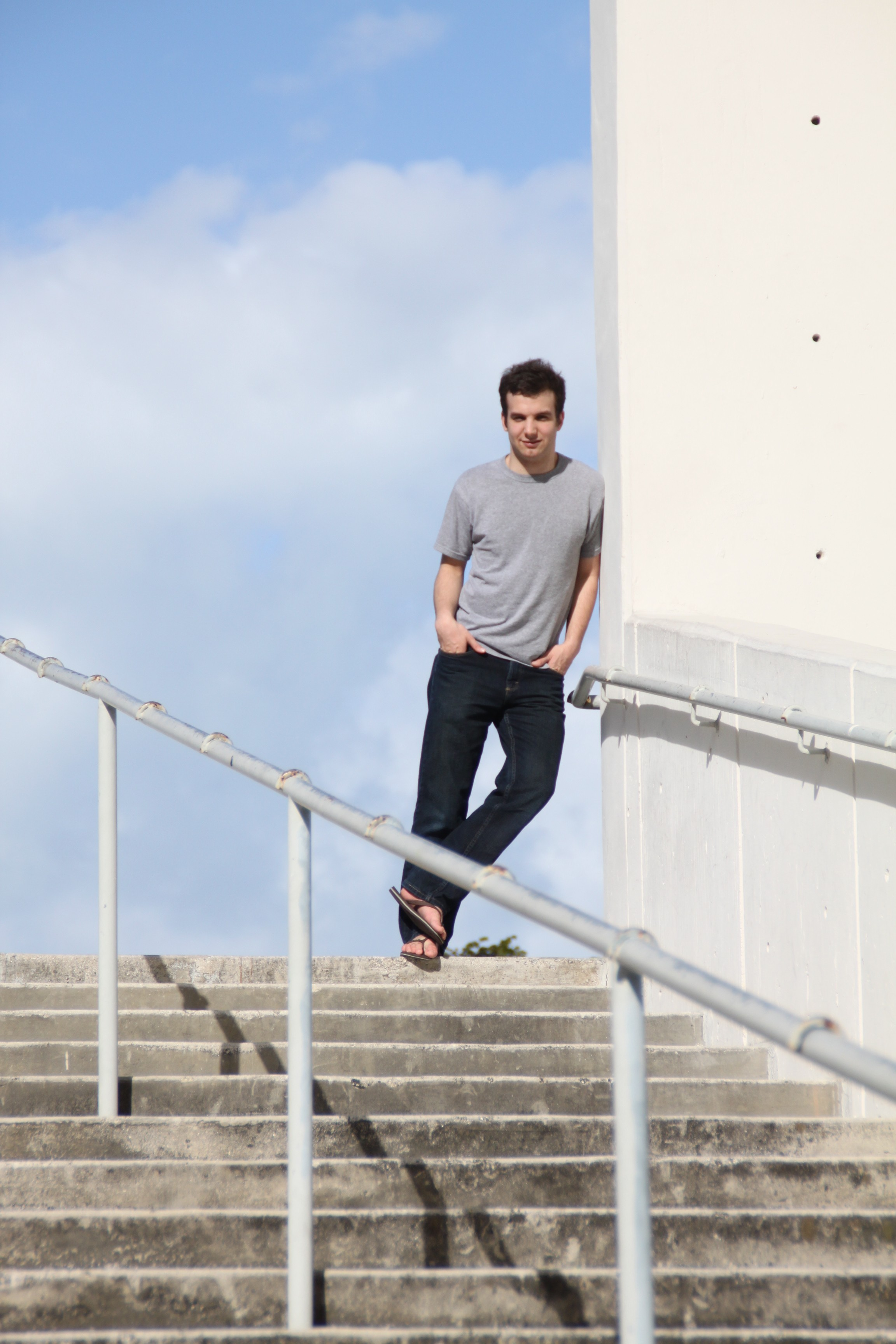 Michael Westin pose at Bayfront Park