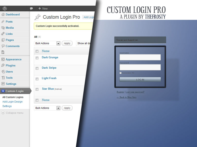 Custom Login Pro has arrived
