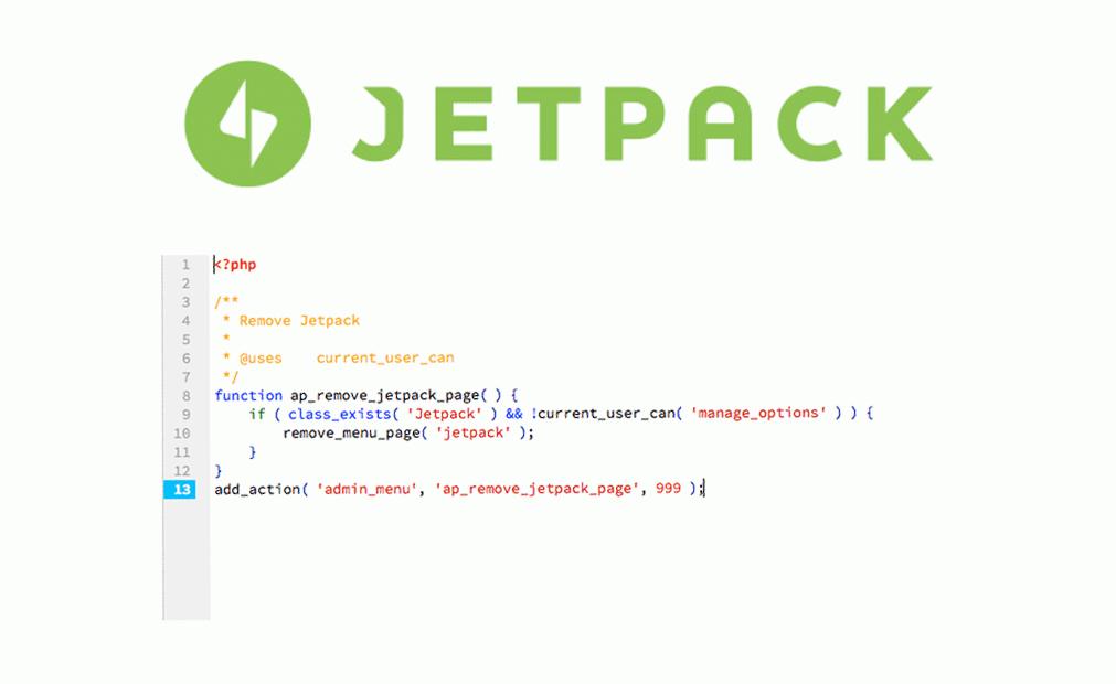 Remove Jetpack menu page