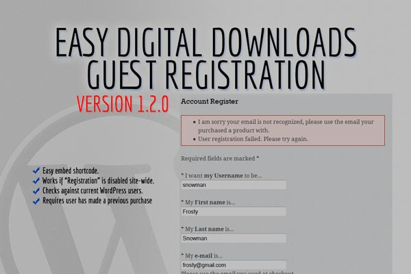 New Easy Digital Downloads Extensions on Extendd