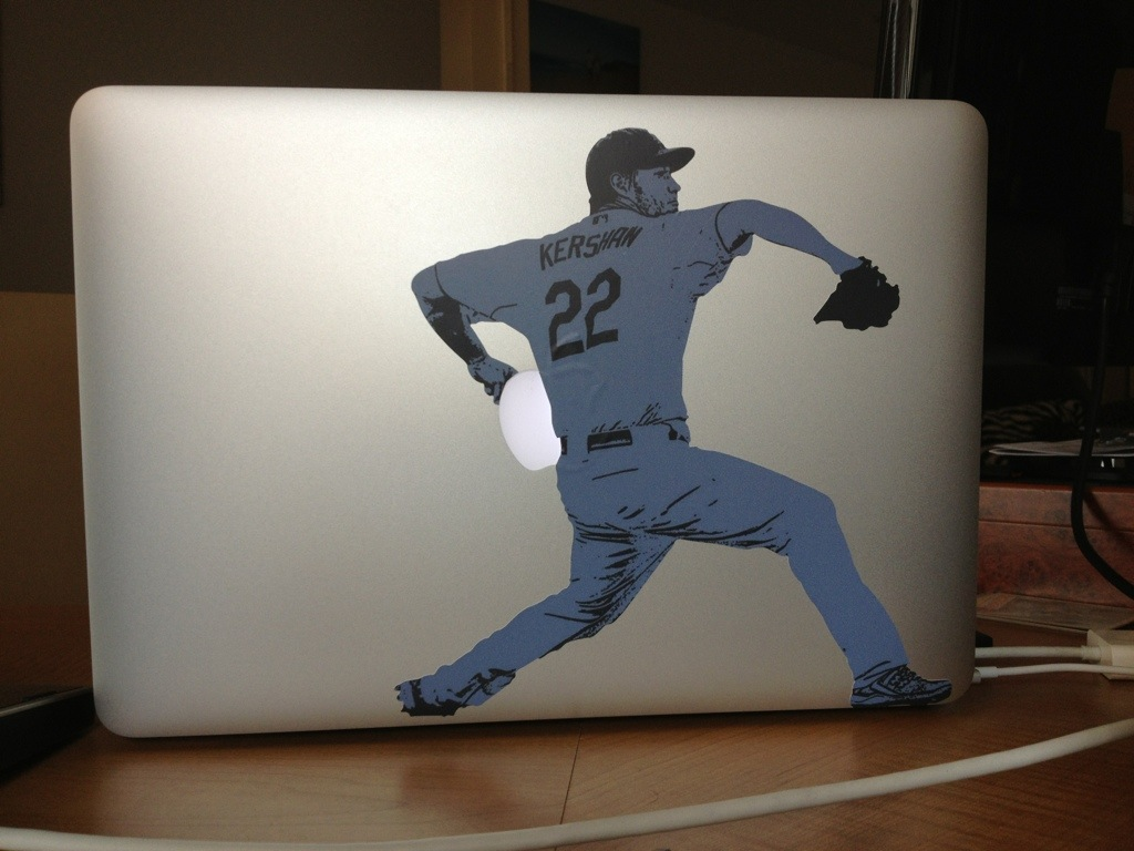 Clayton Kershaw Sticker Apple MacBook Pro