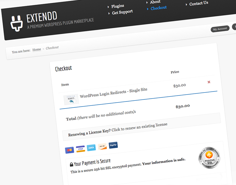 Checkout Page Improvements for Extendd.com