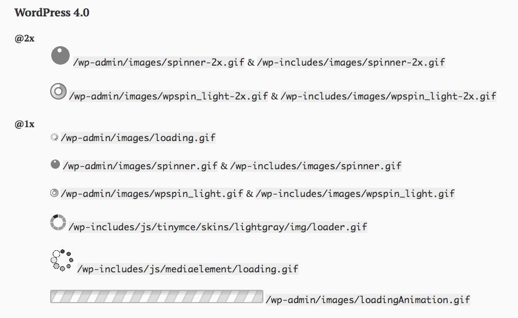 Native WordPress Loading GIFs
