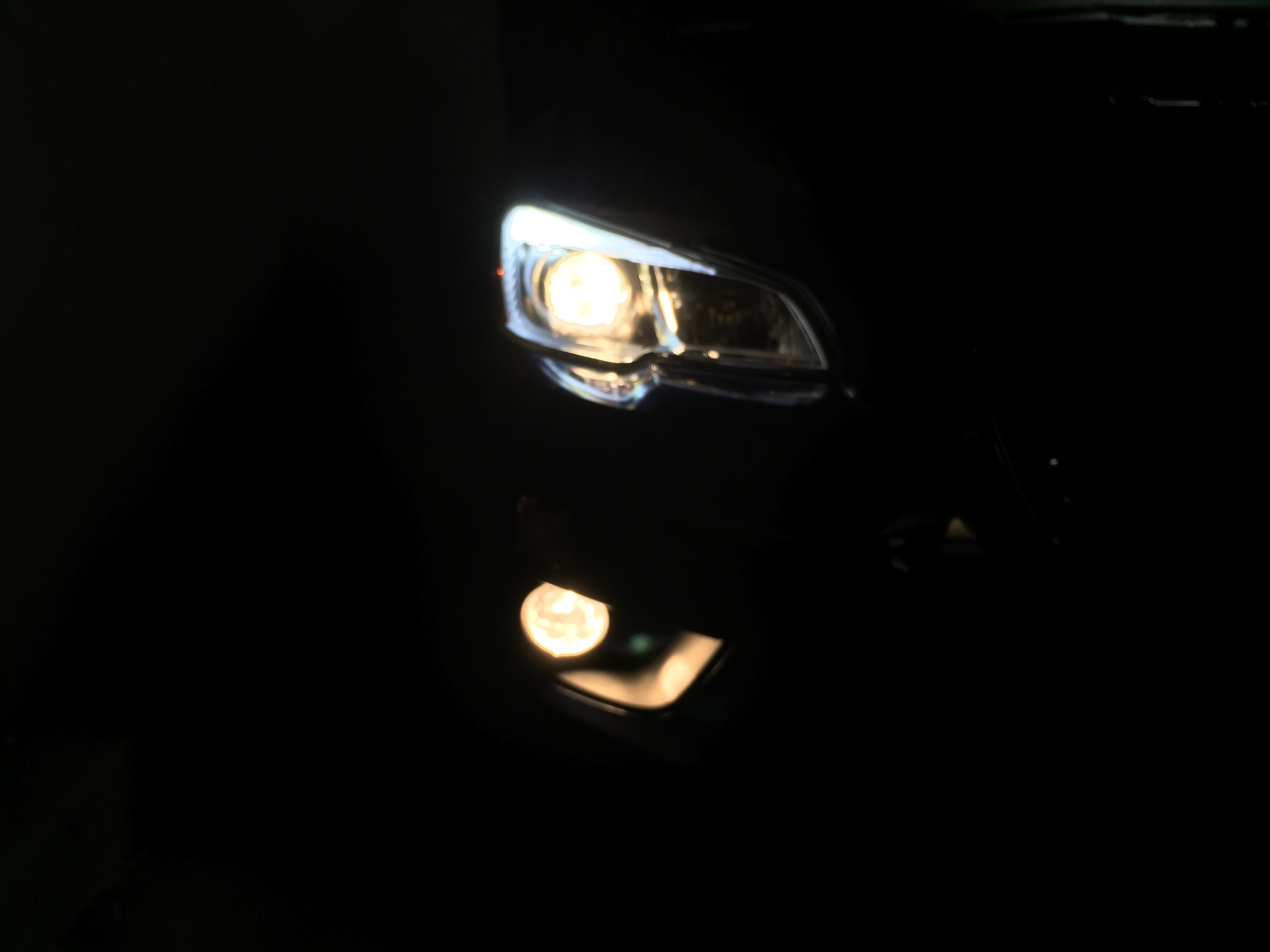 SubiSpeed OLM LED C-lights with stock Low Beams